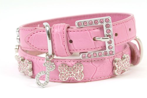 Oh La La Crystal Dog Collar (Pink)