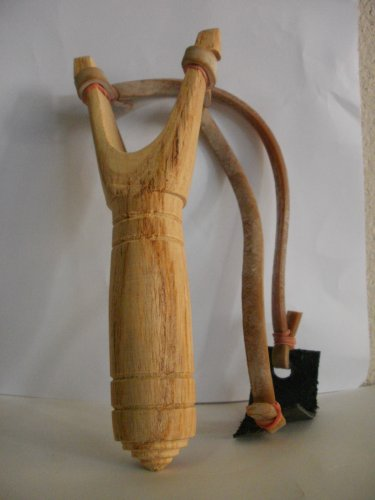 TRADITIONAL WEAPON TOY CLASSIC THAI ART WOODEN SLINGSHOT HANDMADE WOOD CARVING