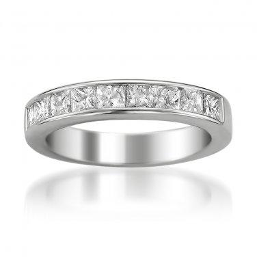 14k White Gold 1 1/2 ctw Princess-cut Diamond 9-stone Bridal Wedding Ring (G-H, SI3-I1)