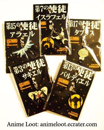 Rare Evangelion Cute Chibi Fastener Set: 5 pieces