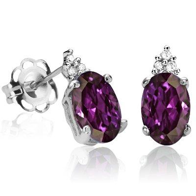 Lab Alexandrite Earrings