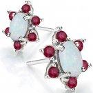 Lovely Fire Opal earrings