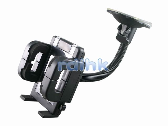 BLACK UNIVERSAL WINDSHIELD MOUNT WITH 360 DEGREE SWIVEL (RDL-WM-100A)