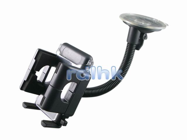 BLACK UNIVERSAL WINDSHIELD MOUNT WITH 180 DEGREE SWIVEL (RDL-WM-101A)