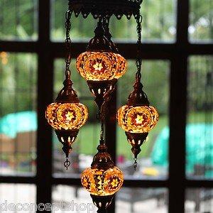 Mosaic  5 light Chandelier