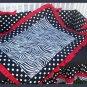 NEW crib bedding set RED BLACK ZEBRA POLKA DOTS fabrics