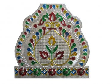 Meenakari Flower with Five Key Hooks - Wall Hanging
