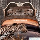 3D 100% cotton Leopard Bedding Set (Queen Size )