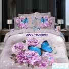 3D 100% cotton Butterfly Bedding Set (King Size )