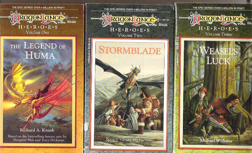 DRAGONLANCE Heroes I Trilogy - Huma, Stormblade, Weasel