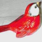 Vintage GOEBEL CV72 Red Sparrow Bird Figurine W. Germany Porcelain