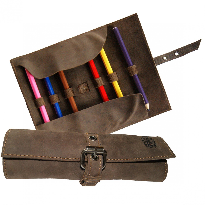 BARON OF MALTZAHN Pencil case HOMER leather brown
