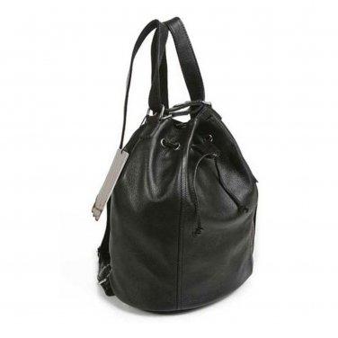 Drawstring Calfskin Backpack