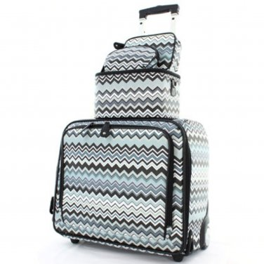 Faux Leather Carry On & Checked Luggage Set