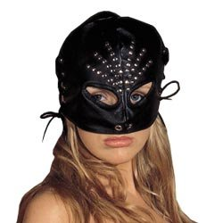 Leather Female Head Mask