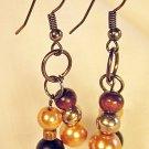 E20 - brown beaded earrings