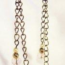 E21 - pink beaded earrings