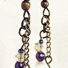 E23 - blue & white beaded earrings