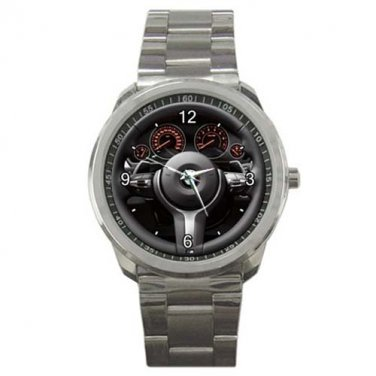 BMW 3 Series F30 M Sports Car Steering Wheel Sport Metal Watch