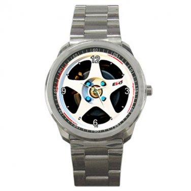 White EVO Regamaster Wheel Sport Metal Watch