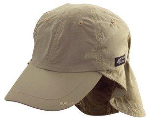 Outdoor Sun Protection Hat-Neck Flap Cap- Cooloing COOLMAX & Supplex-Khaki Tan