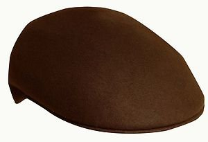 SCALA Wool Crushable Ivy Cap/Driving Cabbie Driver Round Ascot Hat-Brown-Medium
