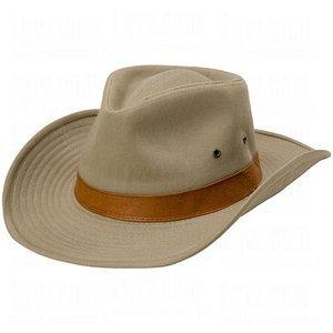 UPF/SPF 50-UV SUN BLOCK Outback Hat -  Shapeable & Adjustable Brim -Khaki Tan-XL