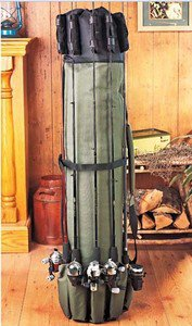 Fishing Rod-Reel-Tackle Carrier/Carry Case-Storage Organizer Portable Pole Rack