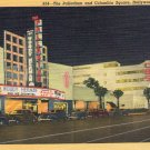 "Hollywood- C. T. Art ""The Palladium and Columbia Square, Hollywood, California"" Linen Postcard"