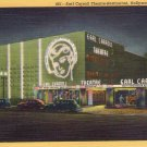 "Hollywood- C. T. Art ""Earl Carroll Theatre-Restaurant, Hollywood, California"" Linen Postcard"