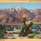 "Scenic- C.T. Art ""Mt. Jan Jacinto, California"" Linen Postcard"
