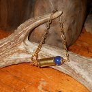 Ammo Bracelet 40 Cal OOAK Shell Casing Bracelet- Blue and Gold- Lapis Lazuli