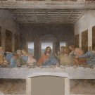 "PAINTING / FAMOUS, FREE WORLDWIDE SHIPPING  leonardo4-48"" X 72""-600 The Last Supper"
