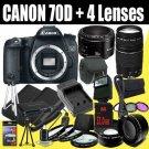 Canon EOS 70D 20.2 MP Dual Pixel CMOS Digital SLR Camera KIT  B00EPOJDNM-AM-1800