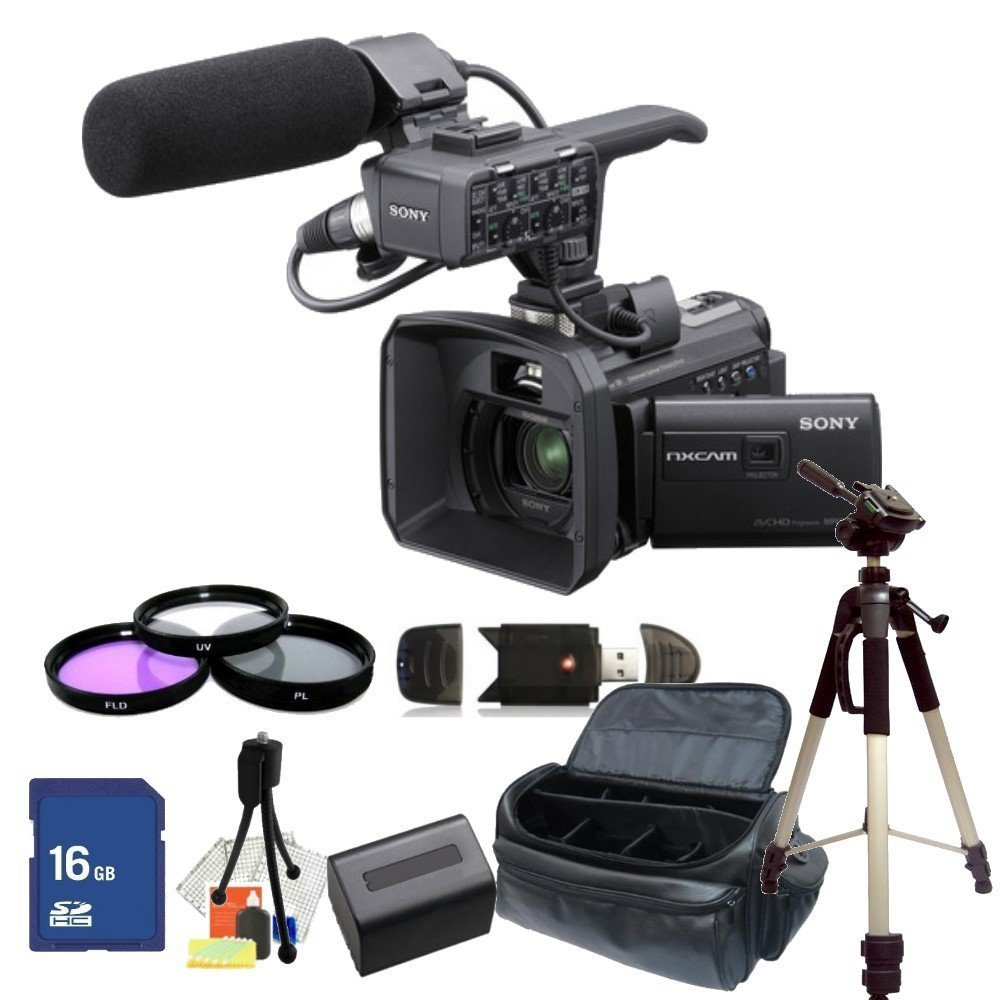 Sony hxr nx30u palm size nxcam hd camcorder with projector for Palm projector