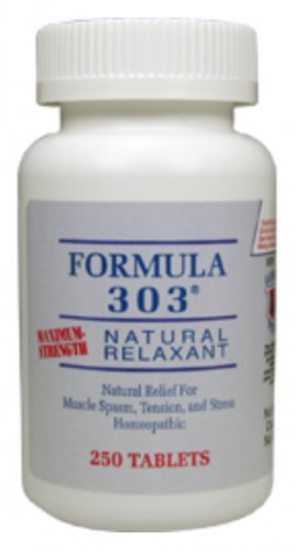 Dee Cee Laboratories (Labs) Formula 303 - Natural Muscle Spasm Relaxer & Pain Reliever - 250 Tablets
