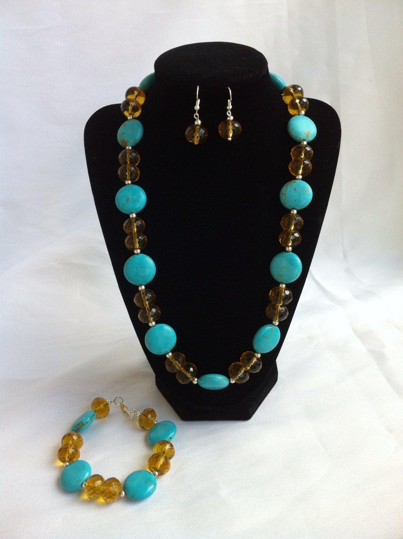 Chez gemstone necklace sets