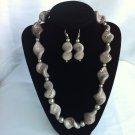 Snow twist necklace sets