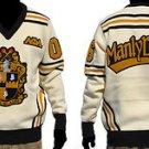 Alpha Phi Alpha Long Sleeve V neck Sweater Black Gold V neck Fraternity Sweater
