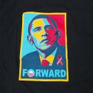 President Barack Obama Black Short sleeve T shirt 2013 Campaign FORWARD Tee M-2X