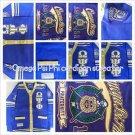Omega Psi Phi Purple Gold Long sleeve fraternity Cardigan Sweater M-5X