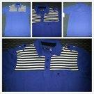 Ecko Blue White Black Polo Shirt Ecko Unltd blue short sleeve polo shirt S-XL