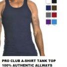 BLACK TANK TOP T-SHIRT by PRO CLUB LIGHT WEIGHT TANK TOP T-SHIRT S-7XL 6PACK