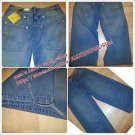 MENS PREMIUM BLUE DENIM JEAN CLAM DIGGER CAPRI PANTS DENIM CAPRI PANTS 32-42W