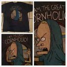 Vintage style beavis and butthead blue short sleeve T shirt cornholio shirt 2XL