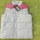 Blac Label Gray Burgundy Wool sleeveless Vest Men's Two Tone SLEEVELESS VEST  L