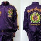 Q PSI PHI Purple Gold long sleeve warm up suite L-5XL