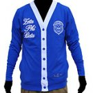 ZETA PHI BETA Blue Long Sleeve Cardigan sweater S-3X NW
