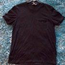BLACK SHORT SLEEVE V-NECK T SHIRT SIGNIFY FITTED V NECK CASUAL T SHIRT