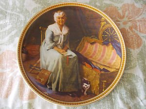 "Norman Rockwell ""Reminiscing In The Quiet"" Collector Plate Twelfth Issue 2896F"